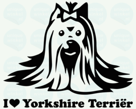 auto sticker • I love yorkshire terriër 2