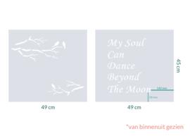 raamfolie op maat • Vogels op tak • 4 stuks