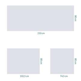 raamfolie op maat • zonder motief • 3 stuks