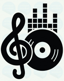 auto sticker • muziek