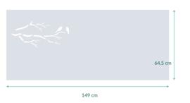 raamfolie op maat • Vogels op tak • 149 x 64,5 cm