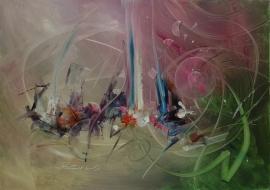 schilderij Abstracte fantasie, 100 x 70 cm