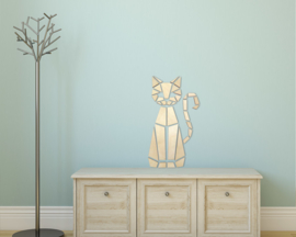 houten wanddecoratie • Origami Kat