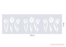 raamfolie op maat • Tulpen • 122 x 40 cm