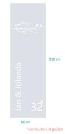 raamfolie op maat • Jan&Jolanda • 66 x 210  cm