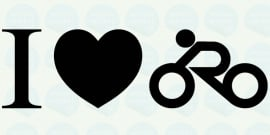 auto sticker • I love wielrennen