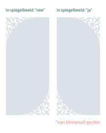 verticale statische raamfolie  • Brocante