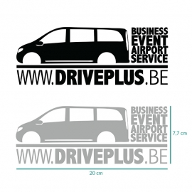 6 autostickers driveplus.be