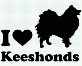 auto sticker • I love keeshonds