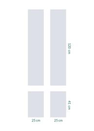 raamfolie op maat • zonder motief • 4 stuks