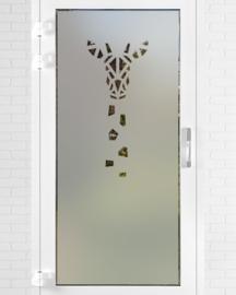 verticale statische raamfolie  •  Giraffe