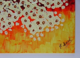 schilderij Vanille boom in avondzon, 100 x 50 cm