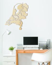 houten wanddecoratie • Nederlandse kaart