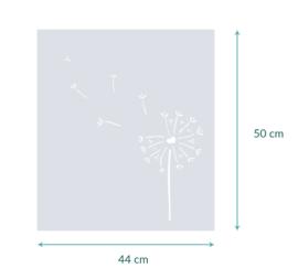 raamfolie op maat • Paardenbloem • 44 x 50 cm