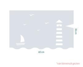 raamfolie op maat • Maritiem • 60 cm x 36 cm