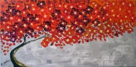 schilderij De geliefde boom, 100 x 50 cm