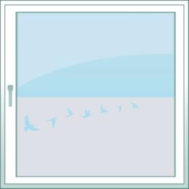 statische raamfolie  •  Vogels