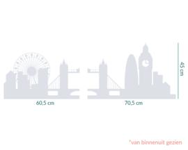 raamfolie op maat • skyline van Londen  • 2 stuks