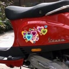 scooter stickers • hartjes