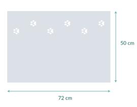 raamfolie op maat • Hondenpootjes • 72 x 50 cm