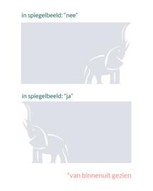 statische raamfolie  •  Olifant