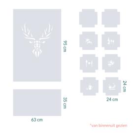raamfolie op maat • Hert en tegels • 10 stuks