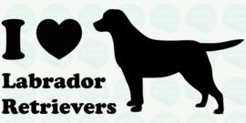 auto sticker • I love labrador retrievers