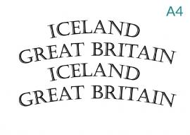 "Stickers ""Icealnd"" en ""Great Britain"""