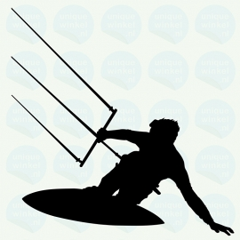 auto sticker • kitesurfer