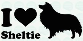auto sticker • I love sheltie