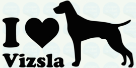 auto sticker • I love vizsla