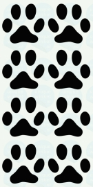 auto sticker • hondenpootjes