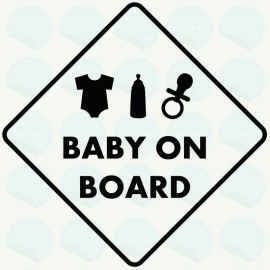 auto sticker • baby on board
