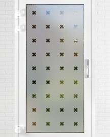 verticale statische raamfolie  • KruisjesX