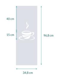 raamfolie op maat • Koffiekopje