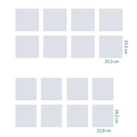raamfolie tegels op maat • zonder motief  • 16 stuks