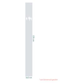 raamfolie op maat • Vogels op draad • 16,5 x 176 cm