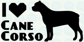 auto sticker • I love cane corso