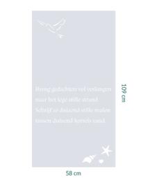 raamfolie op maat • Gedicht • 58 cm x 109 cm
