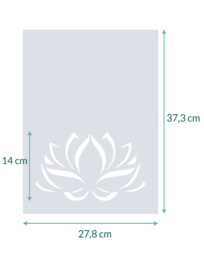raamfolie op maat • Lotus • 27,8 x  37,3 cm
