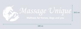 auto sticker • Massage Unique • 100 x 24,5 cm