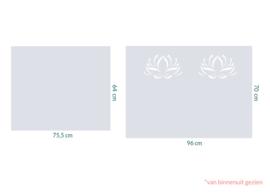 raamfolie op maat • Lotus • 2 stuks