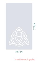 raamfolie op maat • 44,3 cm x 77,8 cm
