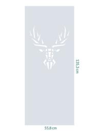 raamfolie op maat • Hert • 55,8 x 135,5 cm