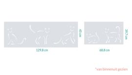 raamfolie op maat • Kattig • 2 stuks