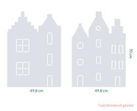 raamfolie op maat • Grachtenhuisjes • 2 stuks