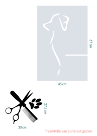 raamfolie en sticker op maat met logo
