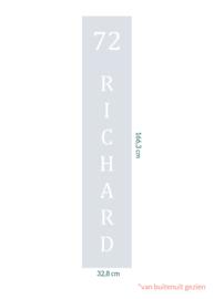 raamfolie op maat • Richard • 32,8 x 166,3 cm