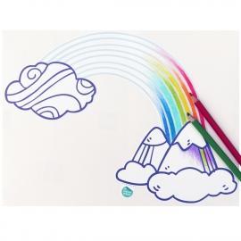 muursticker voor kinderen - regenboog