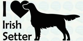 auto sticker • I love irish setter